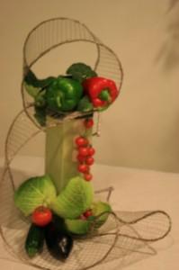 Img 88211 inspirations florales - Composition florale avec fruits legumes ...