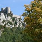 Château de Puylaurens : les rescapés de Montségur sont venus s'y réfugier.