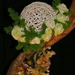 Détail de composition réalisée par Mme Nguyen : Fleurs de poireaux   SNHF à Paris-Janvier 2010.