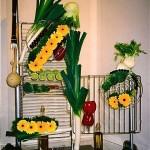 Présentation de différentes grilles de four. Design Inspirations Florales pour le  concours d'art floral Bagatelle 2004, 1er prix thème cuisine du monde.