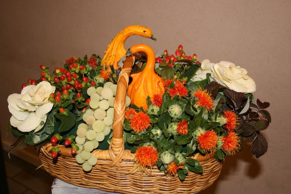 art floral le blog des loisirs comart floral composition automne g n ral mes compositions. Black Bedroom Furniture Sets. Home Design Ideas