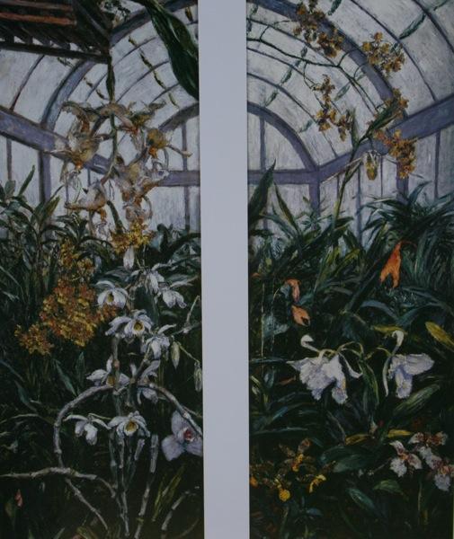 Gustave Caillebotte. Orchidées Cattleya et anthuriums 1893.Caillebotte avait fait construire une serre très perfectionnée dans sa propriété du Petit-Gennevilliers.