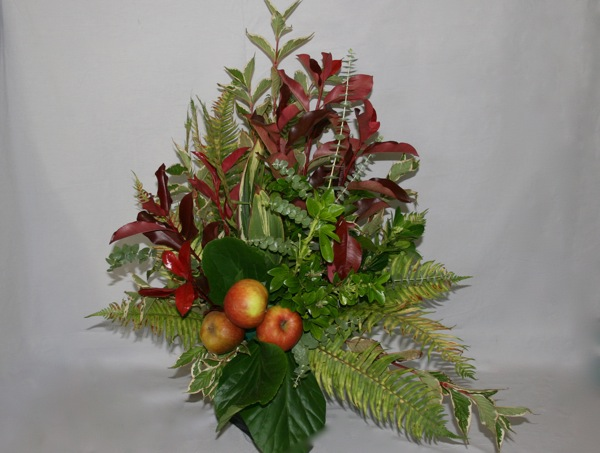 inspirations florales-bouquet-feuillage-fruits