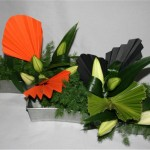 En attendant l'épanouissement des fleurons de lys, la couleur des palmes est bien présente.