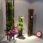 Bambous et cascades de fougère Adiantum, orchidée et gloriosa . Un jardin vertical Monaco 2012