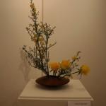 Pour s'initier à l'art de l'Ikebana, l'apprentissage des variations de base est indispensable.  Martine Hardouin.