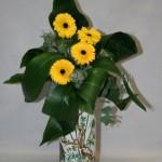 Les couleurs du bouquet doivent ête en harmonie avec le vase.