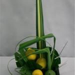 Citrons verts ou jaunes et feuilles de Pandanus composent des bouquets aux couleurs toniques.