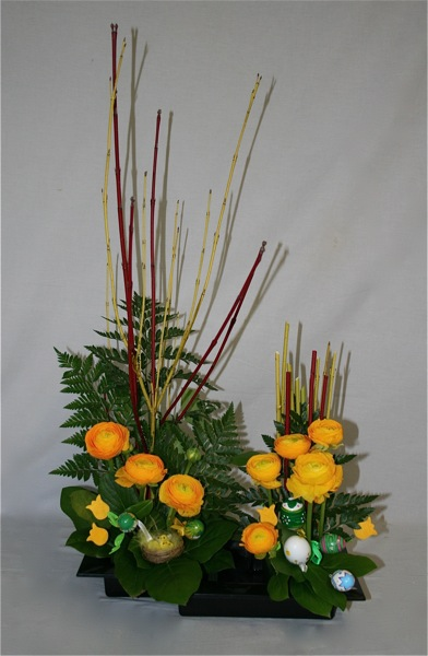 fantaisie de p ques inspirations florales. Black Bedroom Furniture Sets. Home Design Ideas