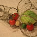 Décor de table sur le thème des légumes. Isabelle Petitpont.