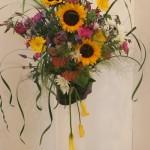 Soleils, célosies, fleurs variées et graminées pour une autre symphonie des 4 saisons.