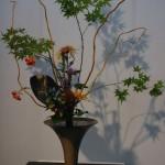 Rikka ou Fleurs dressées est le plus ancien style pratiqué par les moines bouddhistes.