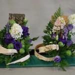 Fantaisie pour le printemps : association de végétaux de textures et formes variées.