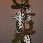 Le grand montage de couronnes de Noël a été réalisé par les trois démonstratrices.