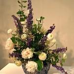 Bleu de Giens : bouquet classique blanc et bleu.