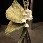 Collage de feuilles de Stachys et Cyclamen blancs