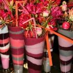 Décor du fleuriste Jacques Castagnié avec des mousses de couleurs variées.