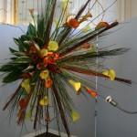 Ce bouquet fusant de tous les côtés illustre le rayonnement du roi soleil, autre thème retenu pour l'exposition. Hélène Lemaire