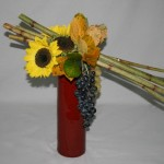 Chaque année,le 1er cours de l'atelier est consacré à l'automne. Fagot de polygonums. Septembre 2010.