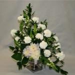 Composition en blanc et vert très appréciée pour les traditionnelles fêtes familiales . Mai 2013.