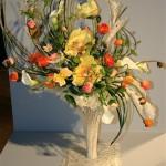 Bouquet de pavots multicolores en boutons et pivoines arbustives au coeur; Boston Wafa 2012
