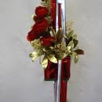 Rouge, or et argent composent un décor raffiné et plein d'éclats.