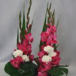 Les opulentes hampes des glaïeuls composent de spectaculaires bouquets.