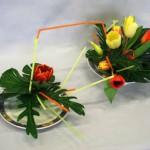Tulipes en duo : de contenants, couleurs et feuillages.